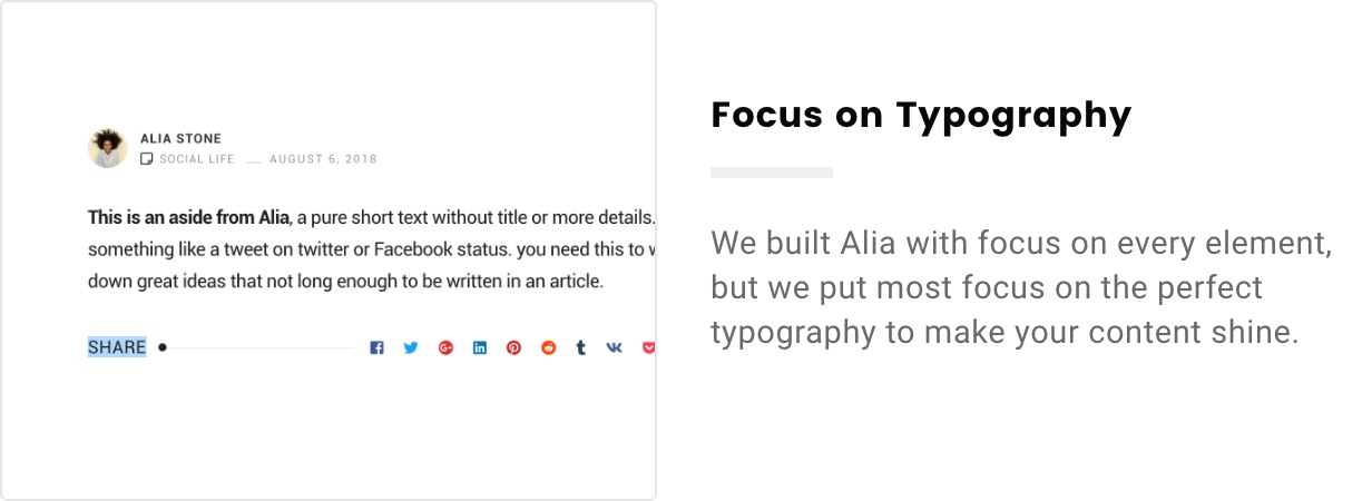 Alia – Minimal Personal Blog (Personal) focus on typography 2x