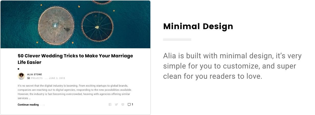 Alia - Minimal Personal Blog - 7